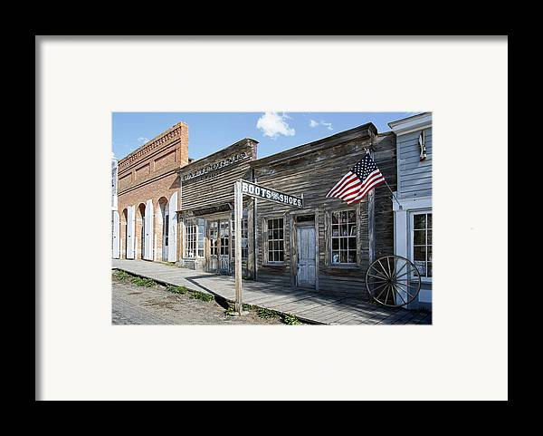 Montana Framed Print featuring the digital art Virginia City Ghost Town - Montana by Daniel Hagerman