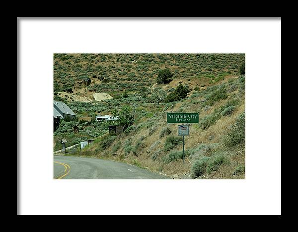 Usa Framed Print featuring the photograph Virginia City Named After Henry Comstock by LeeAnn McLaneGoetz McLaneGoetzStudioLLCcom