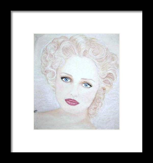 Face Framed Print featuring the drawing Virginia by Scarlett Royal