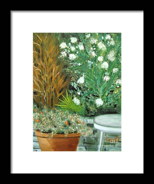 Plein Air Framed Print featuring the painting Virginia's Garden by Laurie Morgan