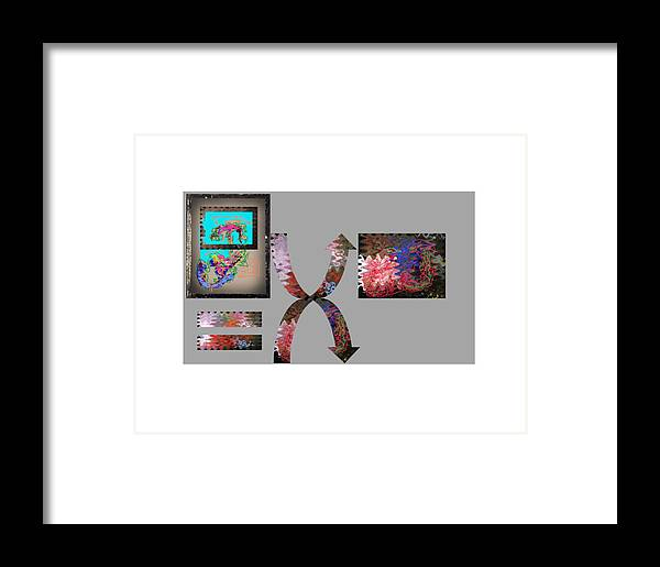 Virtual Sculpture Digital Scroll Framed Print featuring the digital art Virtual Sphere by Edwin VanGorder