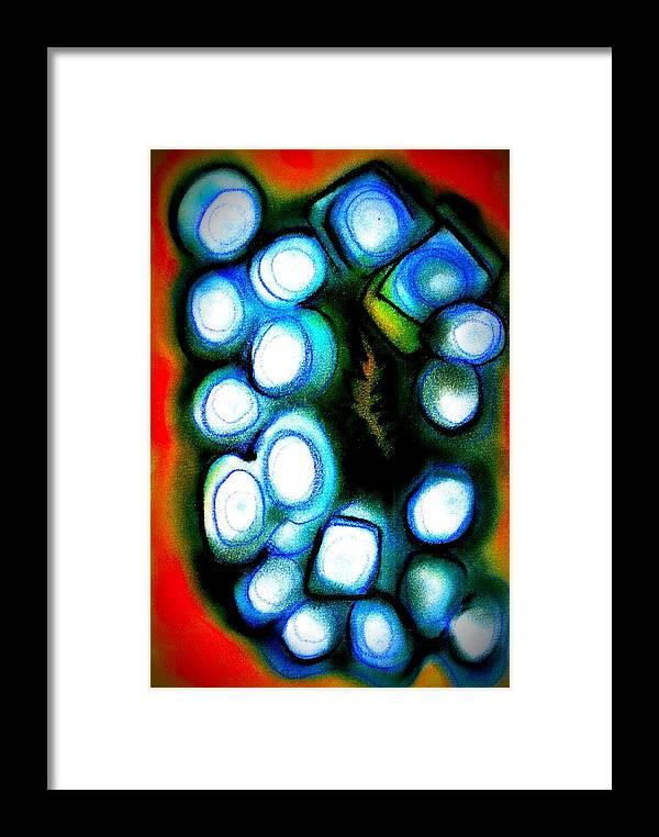 Joan Kamaru Framed Print featuring the digital art Virtual Worlds by Joan Kamaru