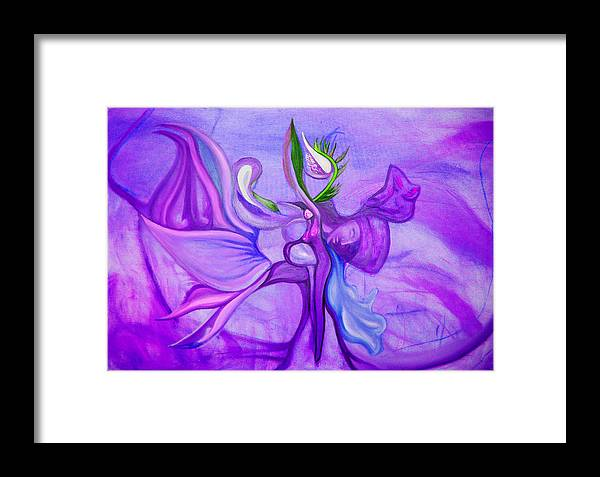 Woman Framed Print featuring the painting Virtue Of Women by MandyCka Johnson