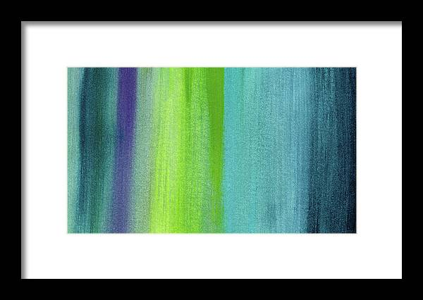 Abstract Framed Print featuring the painting Vishnu- Art by Linda Woods by Linda Woods