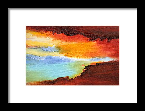 Abstract Framed Print featuring the painting Visible Love - C - by Sandy Sandy