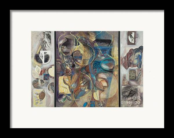 Vessels Framed Print featuring the painting Visible Traces by Kerryn Madsen-Pietsch