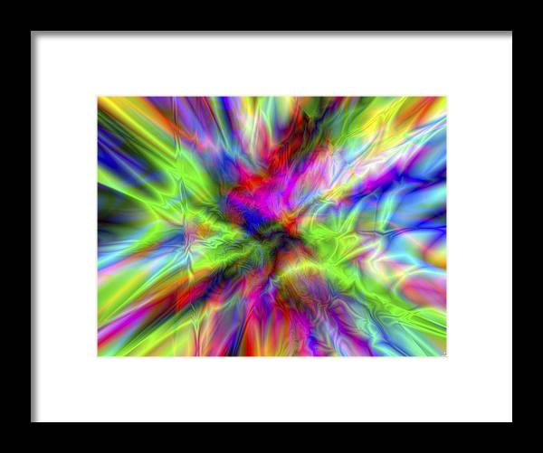 Colors Framed Print featuring the digital art Vision 1 by Jacques Raffin