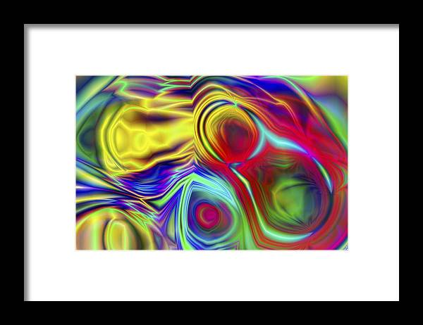 Crazy Framed Print featuring the digital art Vision 10 by Jacques Raffin