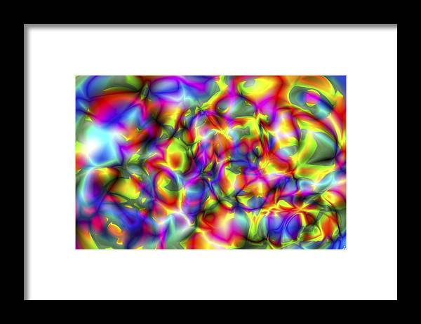 Crazy Framed Print featuring the digital art Vision 2 by Jacques Raffin