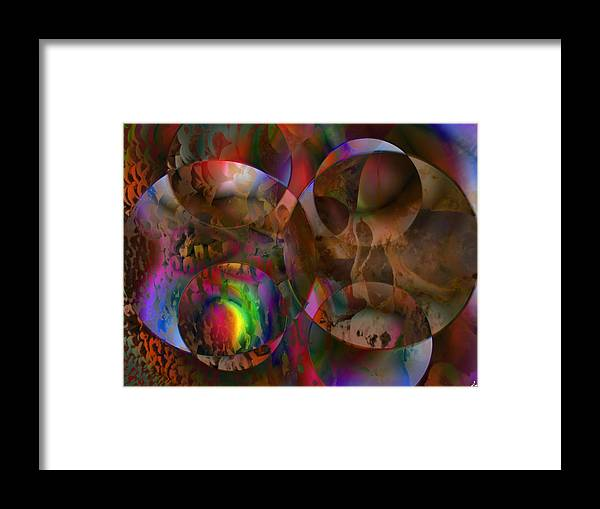 Colors Framed Print featuring the digital art Vision 24 by Jacques Raffin