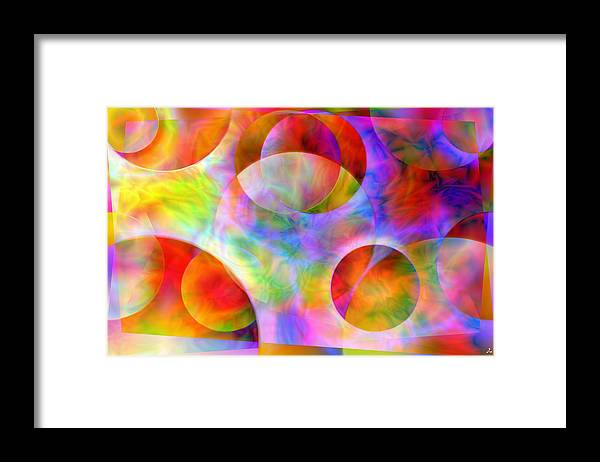 Colors Framed Print featuring the digital art Vision 29 by Jacques Raffin