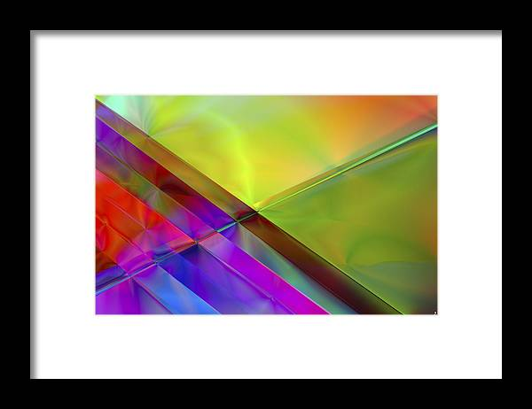 Colors Framed Print featuring the digital art Vision 3 by Jacques Raffin