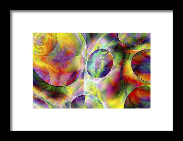 Colors Framed Print featuring the digital art Vision 36 by Jacques Raffin