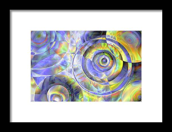 Colors Framed Print featuring the digital art Vision 37 by Jacques Raffin