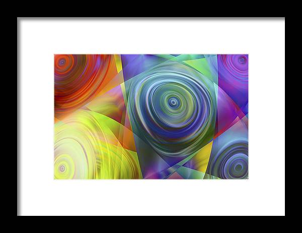 Colors Framed Print featuring the digital art Vision 39 by Jacques Raffin