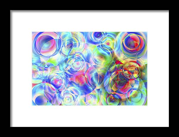 Colors Framed Print featuring the digital art Vision 4 by Jacques Raffin