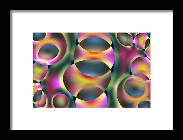 Colors Framed Print featuring the digital art Vision 40 by Jacques Raffin