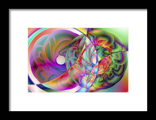 Crazy Framed Print featuring the digital art Vision 41 by Jacques Raffin