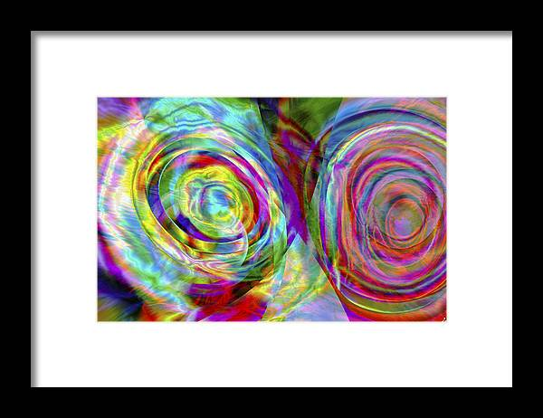 Crazy Framed Print featuring the digital art Vision 44 by Jacques Raffin