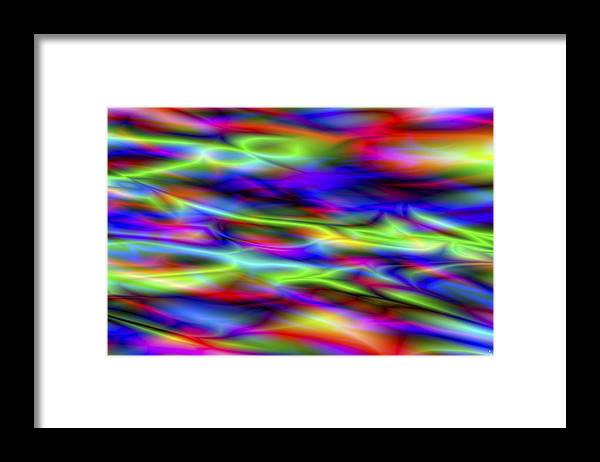 Colors Framed Print featuring the digital art Vision 5 by Jacques Raffin