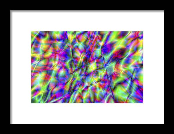 Crazy Framed Print featuring the digital art Vision 6 by Jacques Raffin