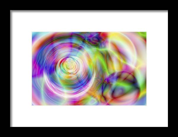 Crazy Framed Print featuring the digital art Vision 7 by Jacques Raffin