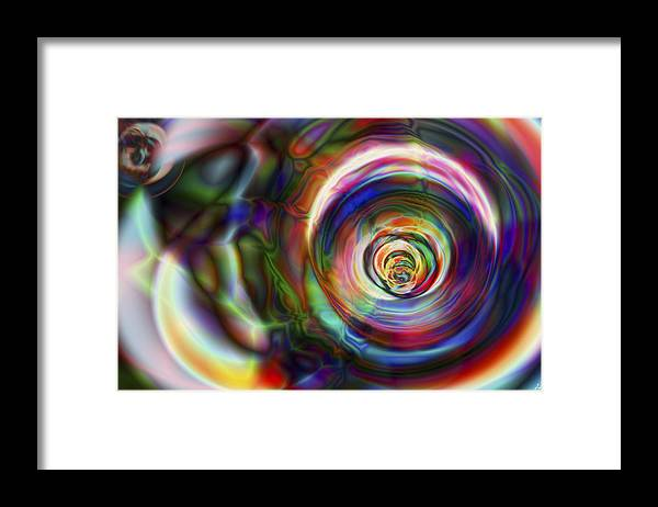 Crazy Framed Print featuring the digital art Vision 8 by Jacques Raffin