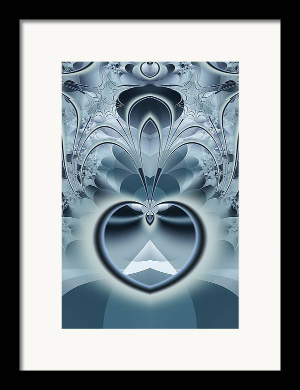Fractal Framed Print featuring the digital art Vision by Frederic Durville