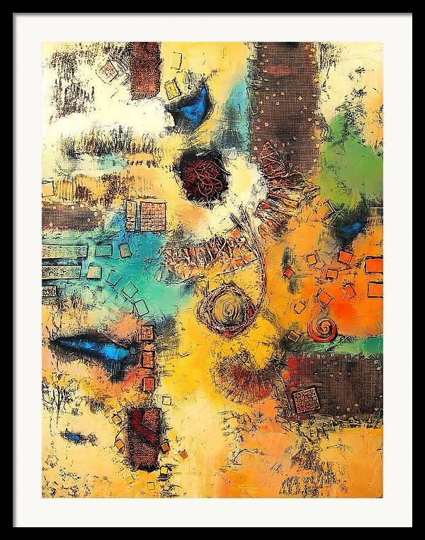 Framed Print featuring the painting Vision II by Farhan Abouassali