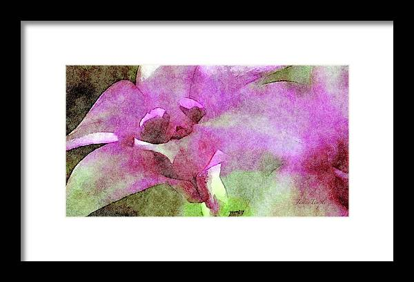Visions Of Violet Framed Print featuring the digital art Visions of Violet by James Temple