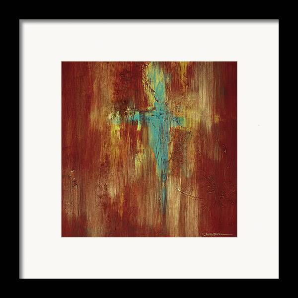 Abstract Framed Print featuring the painting Vision Quest by Tara Moorman