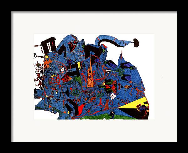 Abstract Framed Print featuring the print Vision Quest by William Watson