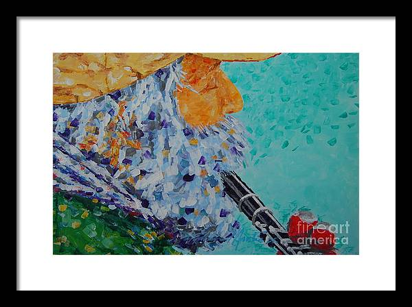 People Framed Print featuring the painting Vision The Music by Art Mantia
