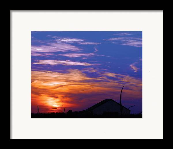 Sunset Framed Print featuring the photograph Visionary Sunset by Carl Perry