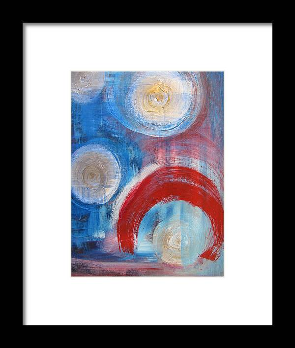 Phase Framed Print featuring the painting Visions by Lindie Racz