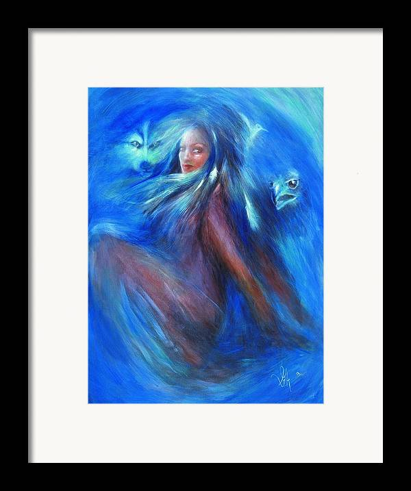 Vision Framed Print featuring the painting Visions Of Awareness by Elizabeth Silk