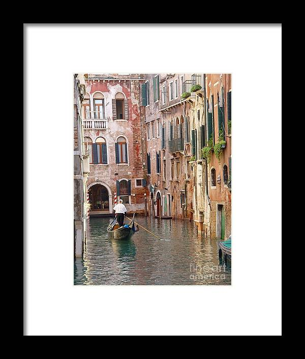 Framed Print featuring the photograph Visions Of Venice 2. by Nancy Bradley