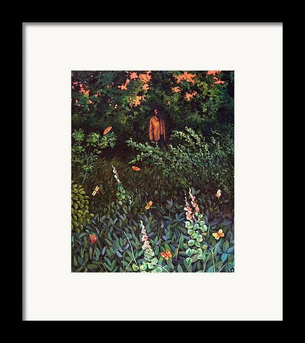 Framed Print featuring the painting Visitor by Paul Sierra