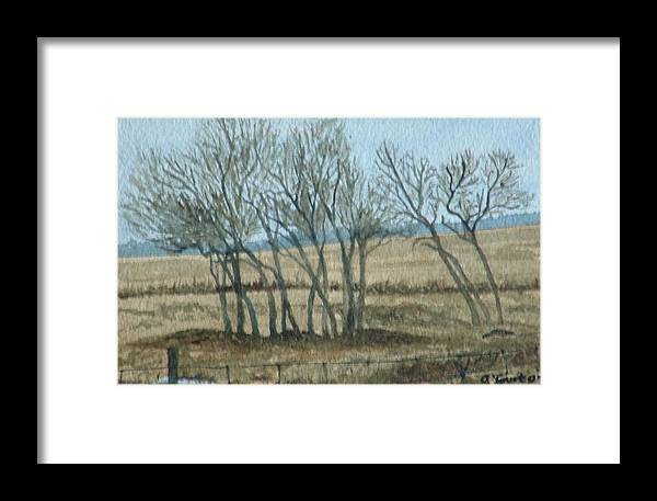 Landscape Framed Print featuring the painting Visitors by Lynn ACourt