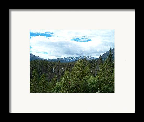 Alaska Framed Print featuring the photograph Vistas Along The Alcan by Janet Hall