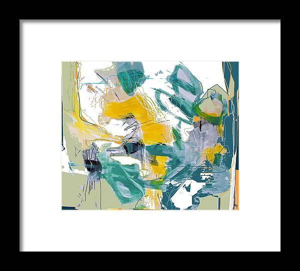 Abstract Framed Print featuring the digital art Vital Signs by Dale Witherow