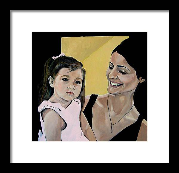 Diana Framed Print featuring the painting Vivian by Diana Moya