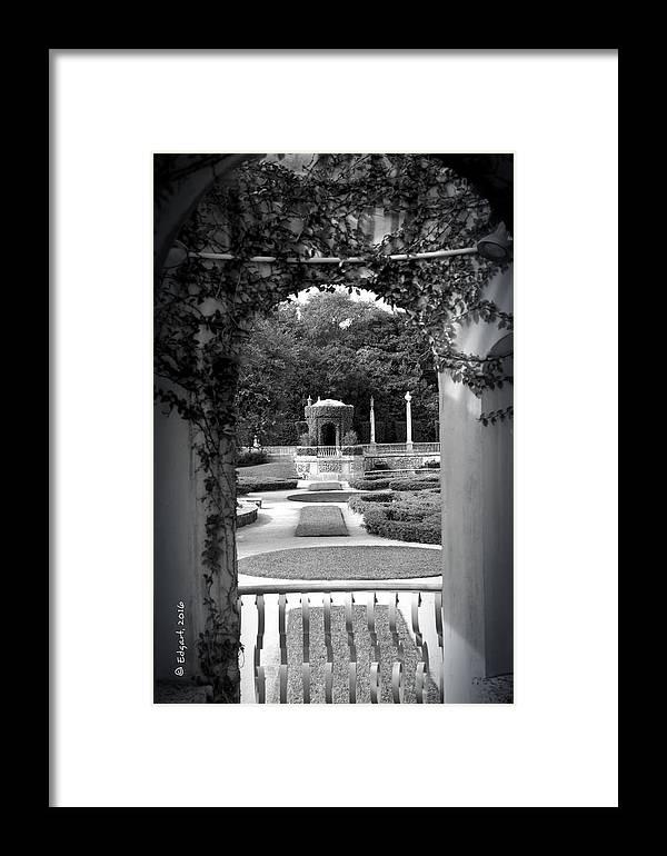 Vizcaya Framed Print featuring the photograph Vizcaya Garden by Edgar Torres