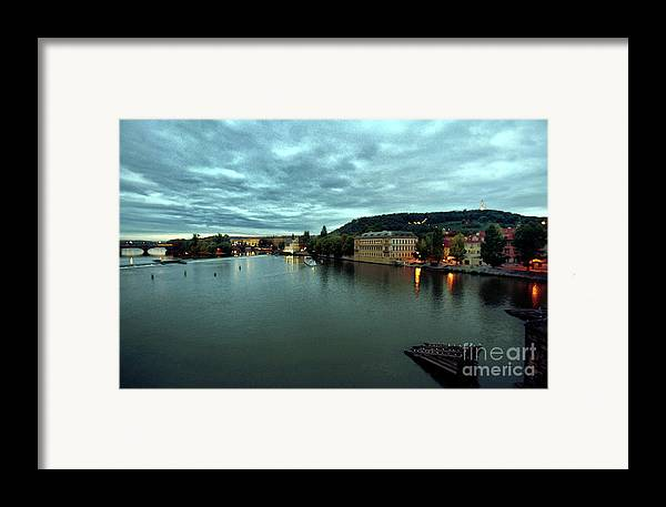 Vltava Framed Print featuring the photograph Vltava View 2 by Madeline Ellis