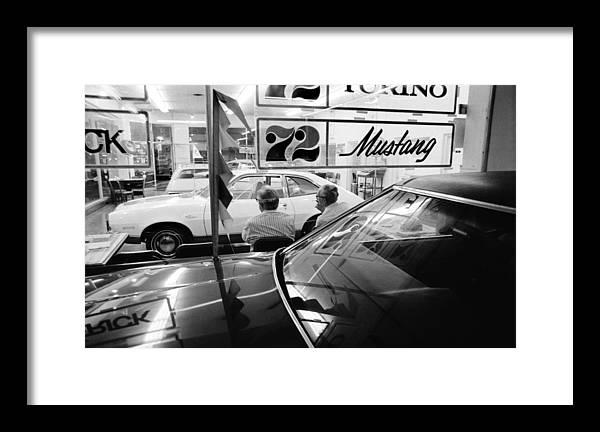 72 Mustang Framed Print featuring the photograph Vn Blvd.-093-29 72 Mustang by Richard Rick Mack McCloskey