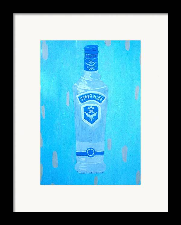 Pop Art Framed Print featuring the painting Vodka by Patrice Tullai