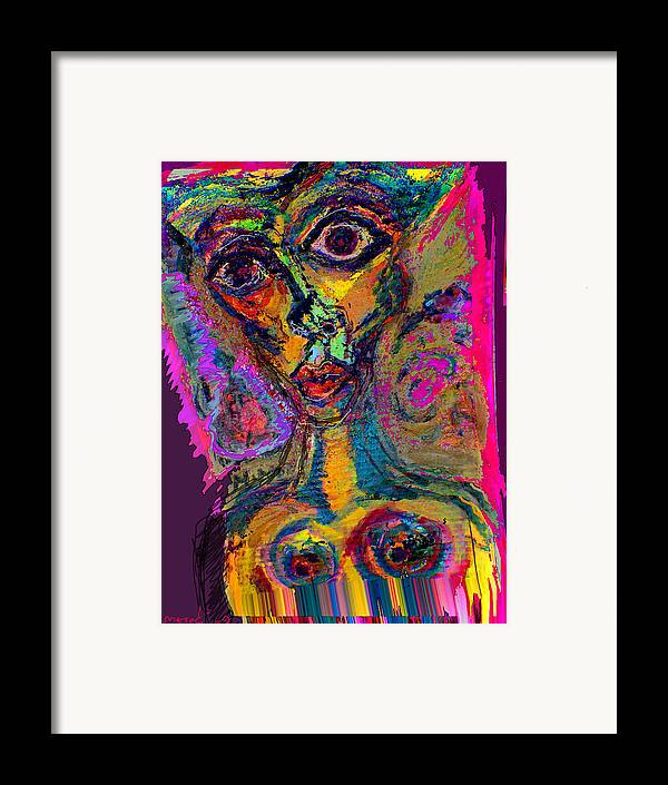Mask Framed Print featuring the painting Vodoo by Noredin Morgan