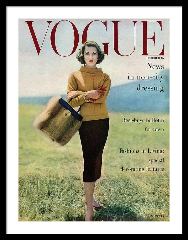 Vogue Magazine Cover Featuring Model Va Taylor by Karen Radkai