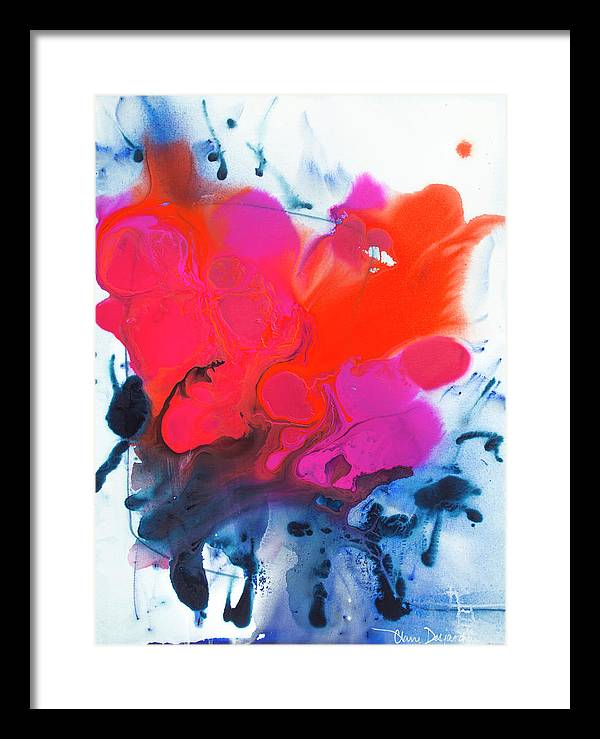 Abstract Framed Print featuring the painting Voice by Claire Desjardins