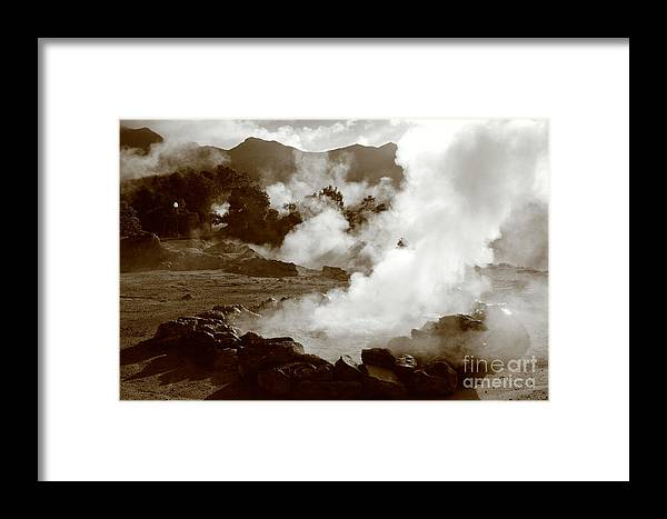 Azores Framed Print featuring the photograph Volcanic Steam by Gaspar Avila